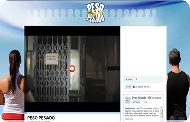 Foto da página inicial do site do Peso Pesado