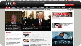 Novo site e design do canal SIC NOTÍCIAS