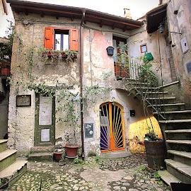 Calcata, Viterbo - Lazio by Aurora Boreale - Digital Art Places ( old, arts, village, medieval, culture )