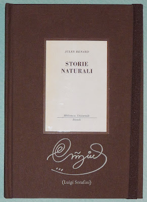 Front cover, with original &quot;Storie Naturali&quot; cover as a pastedown