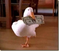 duck_with_money_in_bill_photo