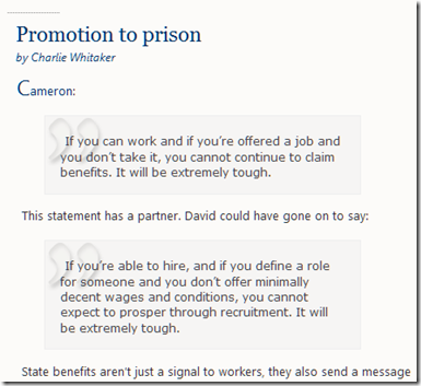promotion to prison