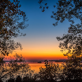 Framing the Sunrise by Tim Morris - Landscapes Sunsets & Sunrises ( p morris photography, trenton, quinte, bakers island, quinte west )