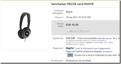 Sennheiser HD238 nere NUOVE su eBay.it Accessori per Lettori MP3  Lettori MP3  MP4 e accessori  Audio  TV  Elettronica