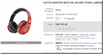 CUFFIE MONSTER BEATS BY DR.DRE STUDIO LEBRON JAMES 23   eBay