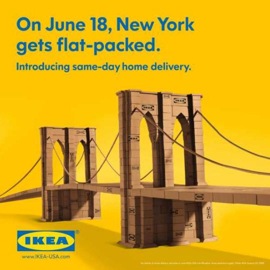 new york from boxes in campaign ikea hq architecture. Black Bedroom Furniture Sets. Home Design Ideas