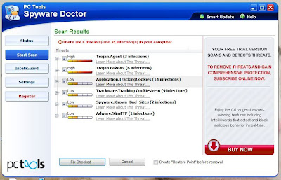 Spyware Doctor report