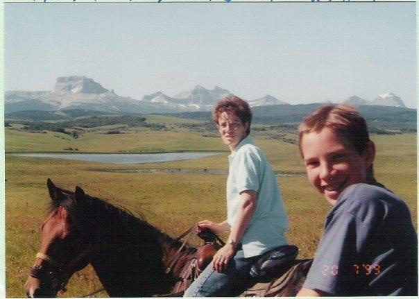 wyatt and mom riding