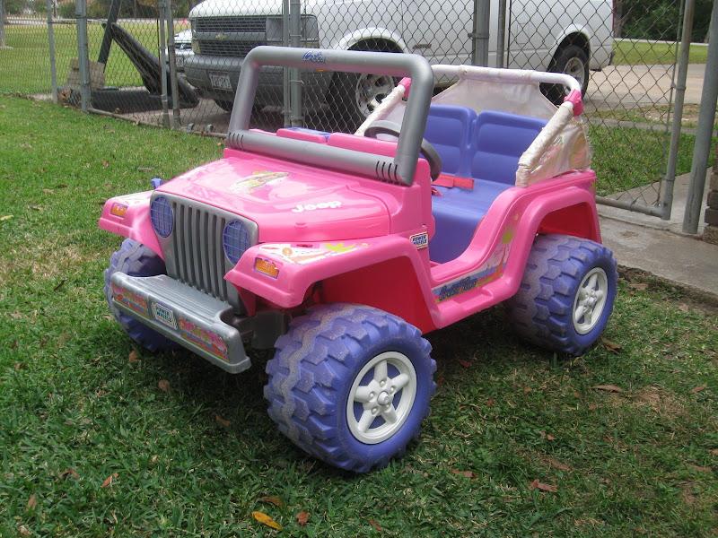 22db188f9b1e1 Modified Power Wheels - Barbie Jeep de-Barbiefied - Wheel swap and ...