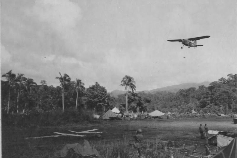Stinson L-5 on Christmas Day 1944, Philippines LbirdChristmas-1