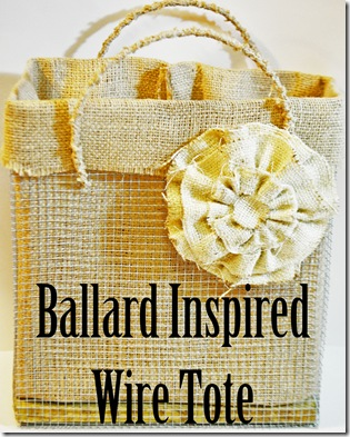 WIRE TOTE WITH LINER TITLE