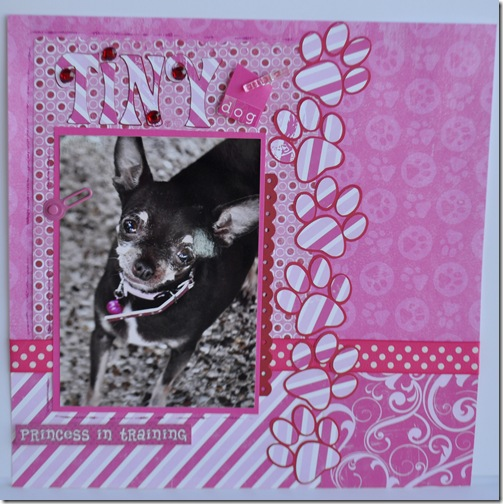 TINY DOG 12X12 SCRAPBOOKING PAGE 2