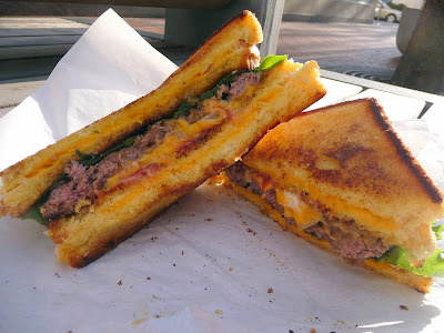 You Can Haz Cheeseburger, by Brunchbox, griled cheese buns, texas toast grilled cheese, cheeseburger, Portland food cart