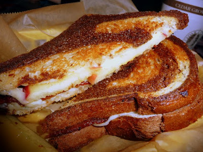 BABs, bacon, Apples, Bleu Cheese, Swiss on Rye, Grilled Cheese Grill, Portland Oregon, food truck, grilled cheese, bus