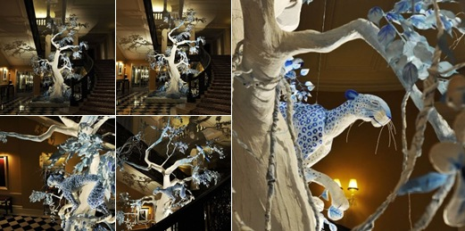 View christmas tree at the clardige by john galliano