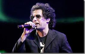 DYN56, BUENOS AIRES 04/10/08, ANDRES CALAMARO  PARTICIPA ESTA NOCHE DEL PEPSI MUSIC EN EL CLUB PORTEÑO CIUDAD DE BUENOS AIRES. FOTO: DYN/ALBERTO RAGGIO.