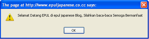 Memasang Windows Alert di Blog