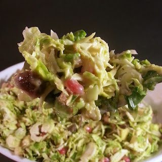 Brussels Sprouts Salad with Orange Tahini Dressing