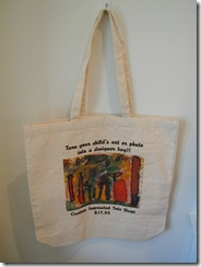 custom imprinted totebag