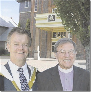 TAS Head Murray Guest with Bishop Peter Brain
