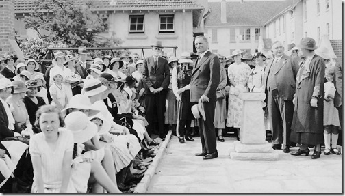 Opening of Hornsby Girls High 1930