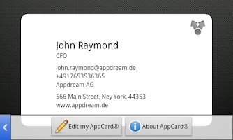 Screenshot of AppCard ©