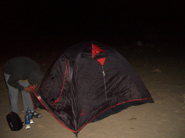 After setting up our camp...