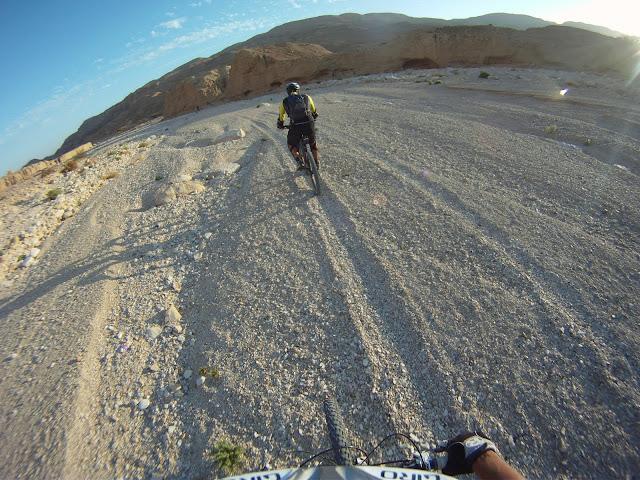 ...to sand/gravel doubletrack....