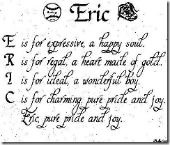 What Eric Means