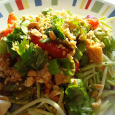 Chinese Stir-Fry over Crunchy Slaw