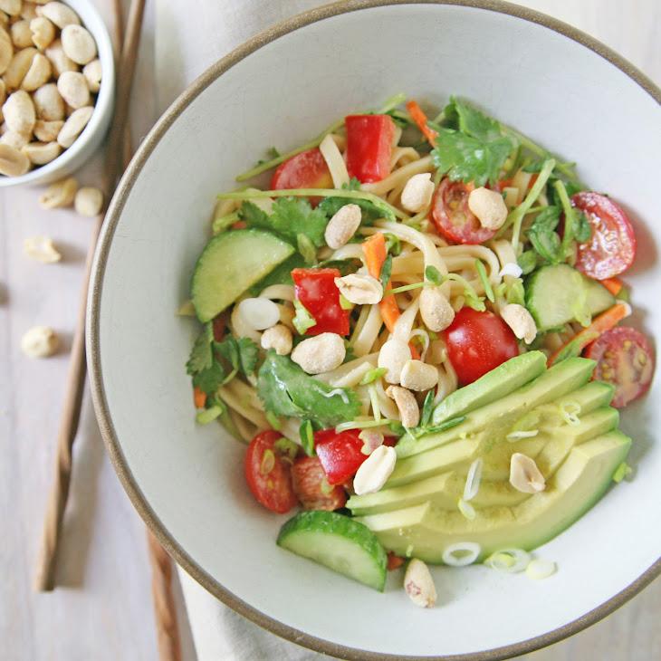 Peanut Udon Noodles With Snow Peas Recipes — Dishmaps