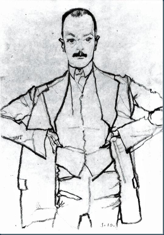 Schiele - Portrait Arthur Roessler - 1910