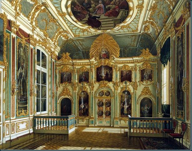 Detalle de la iglesia en el Palacio de Invierno