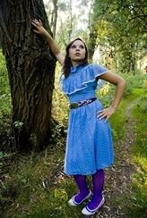 Blue polkadot Dress 2