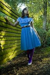 Blue polkadot Dress 3