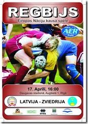 2010.04.17 Latvia v Sweden poster