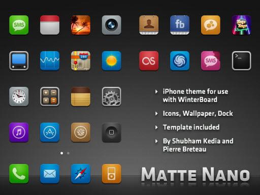 Matte Nano theme iPhone