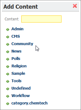 Liferay Add Content Window No Blogs portlet available