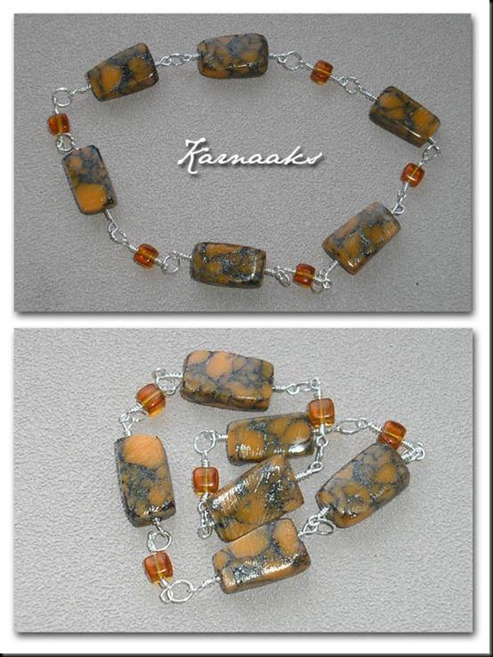 marmorised beads