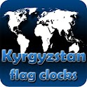 Kyrgyzstan flag clocks icon