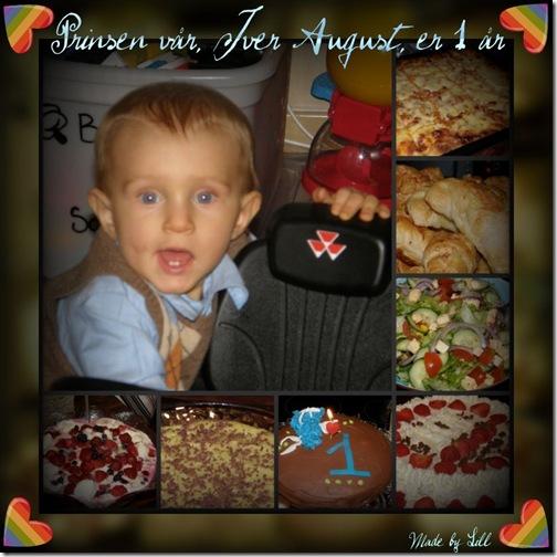 Iver August bursdag 1 år