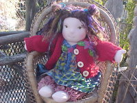 "On a Snow Day- Dress in bright colors - Myra 13"" Doll"