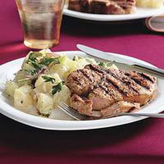 Grilled Pork Chops with Spiked Potato Salad