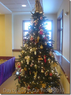 One of the decorated Christmas Trees