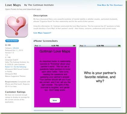 iTunes Gottman LoveMap page