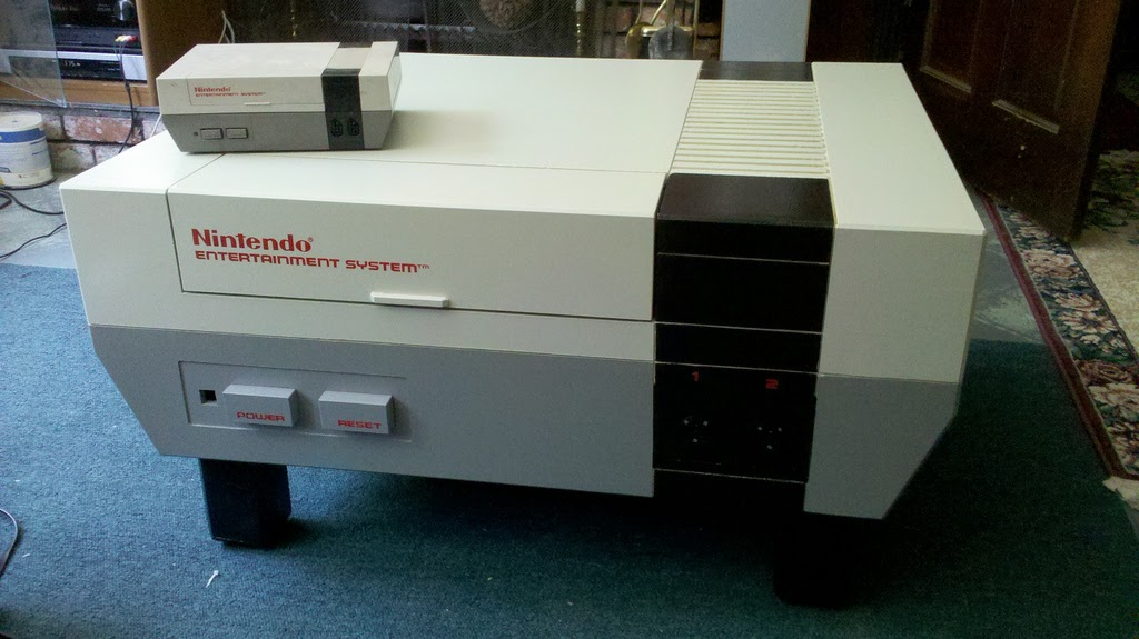 nintendo relaunch: nes coffee table