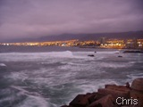 Antofagasta ao anoitecer