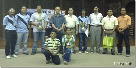 Category Chess Champions with Prof. Syed Arabi and other guests & officials