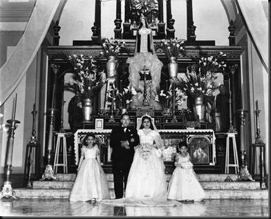 Casamiento Abuelos altar