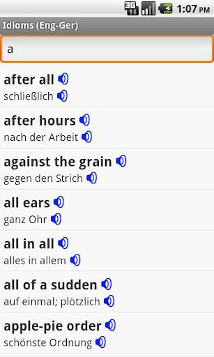 English-German Idioms